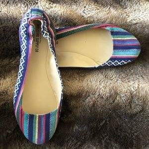 Aztec Multi Colored Flats-Mossimo Supply Co